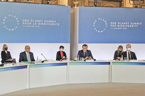 Photo de En présence du Président de la République, le sommet « One Planet Summit » pour la préservation de l'environnement débute ses travaux