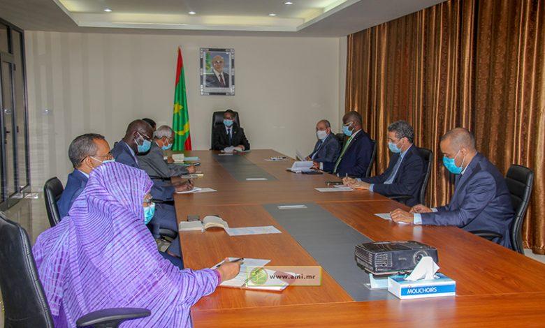 Photo de Réunion du comité interministériel chargé de la covid-19