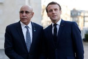 Photo de Ghazouani présent mardi au Sommet sur l'économie africaine à Paris