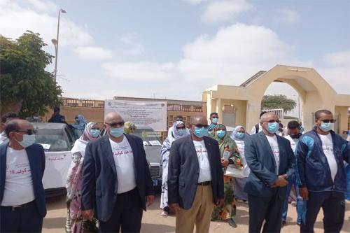 Photo de L'Université El Asriya de Nouakchott en campagne de sensibilisation anti- COVID-19